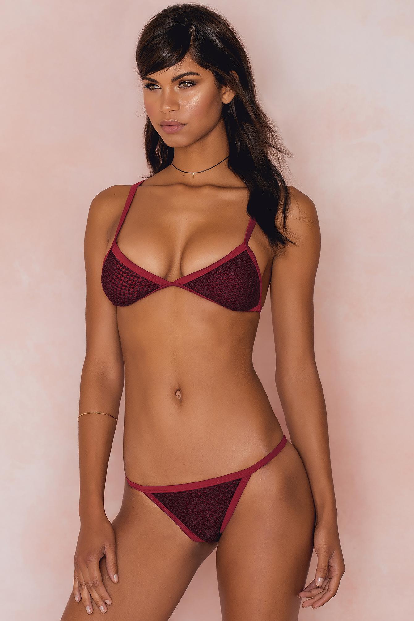 Hot Anatomy Riviera Bikini Top Red