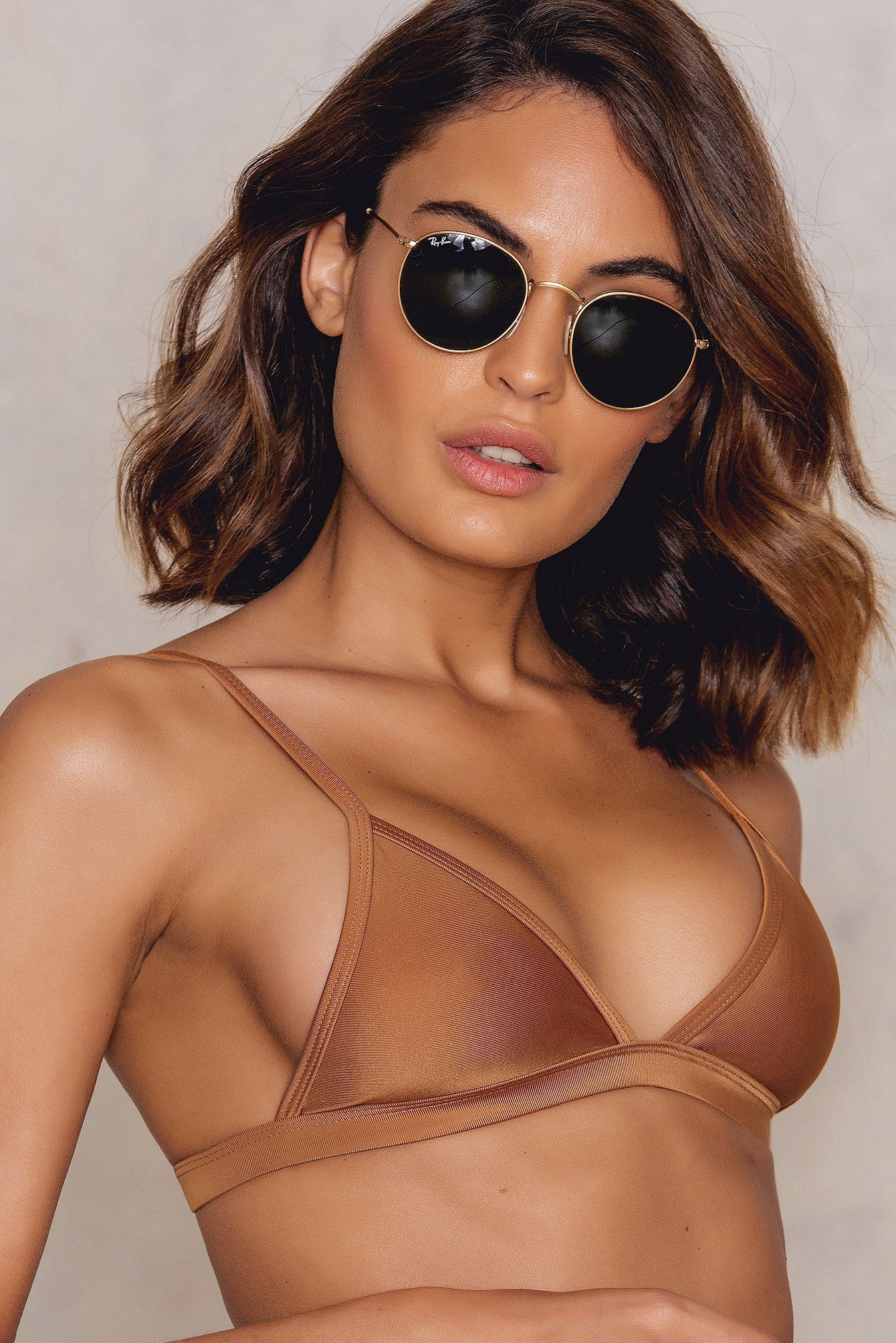 Hot Anatomy Triangle Bikini Top Copper