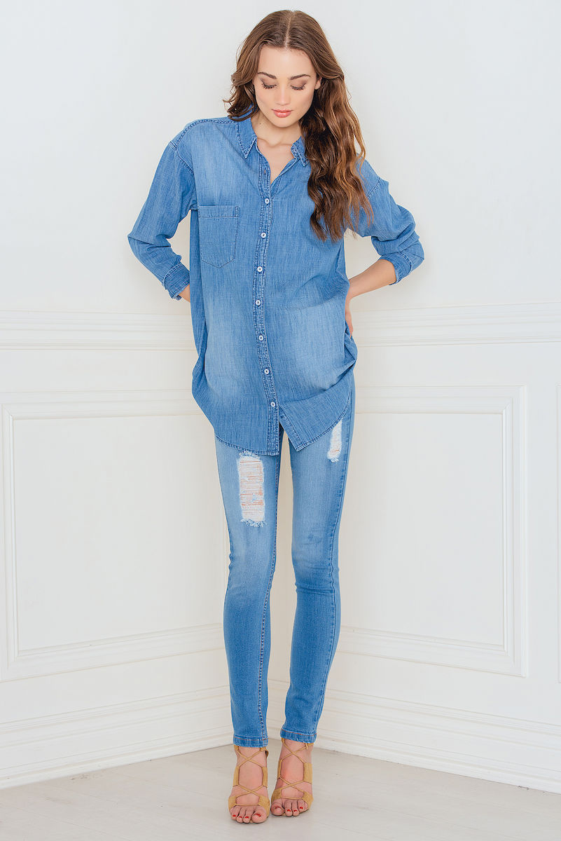 Sally & Circle Josie denim shirt Blue