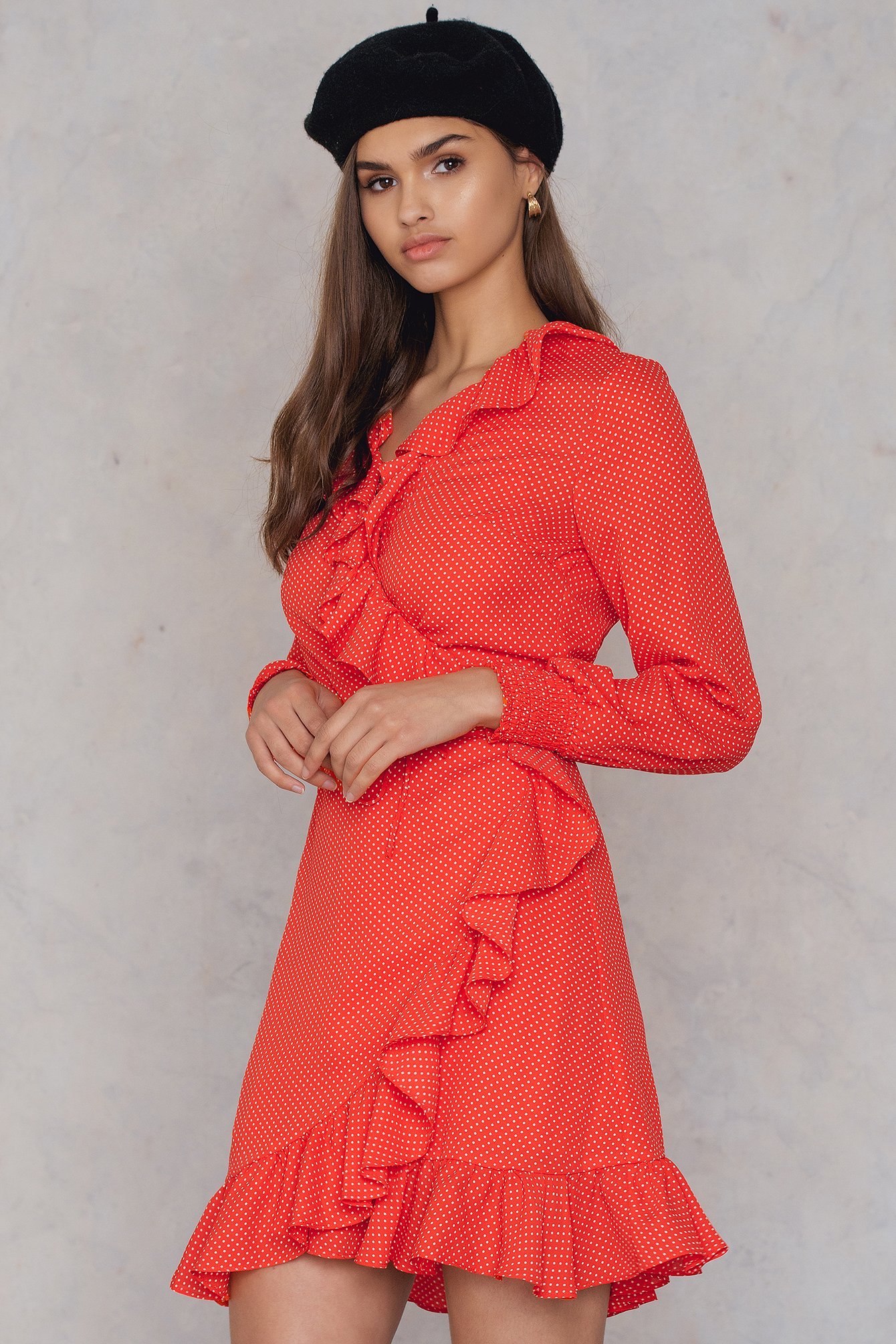Just Female Hiro Wrap Dress Red