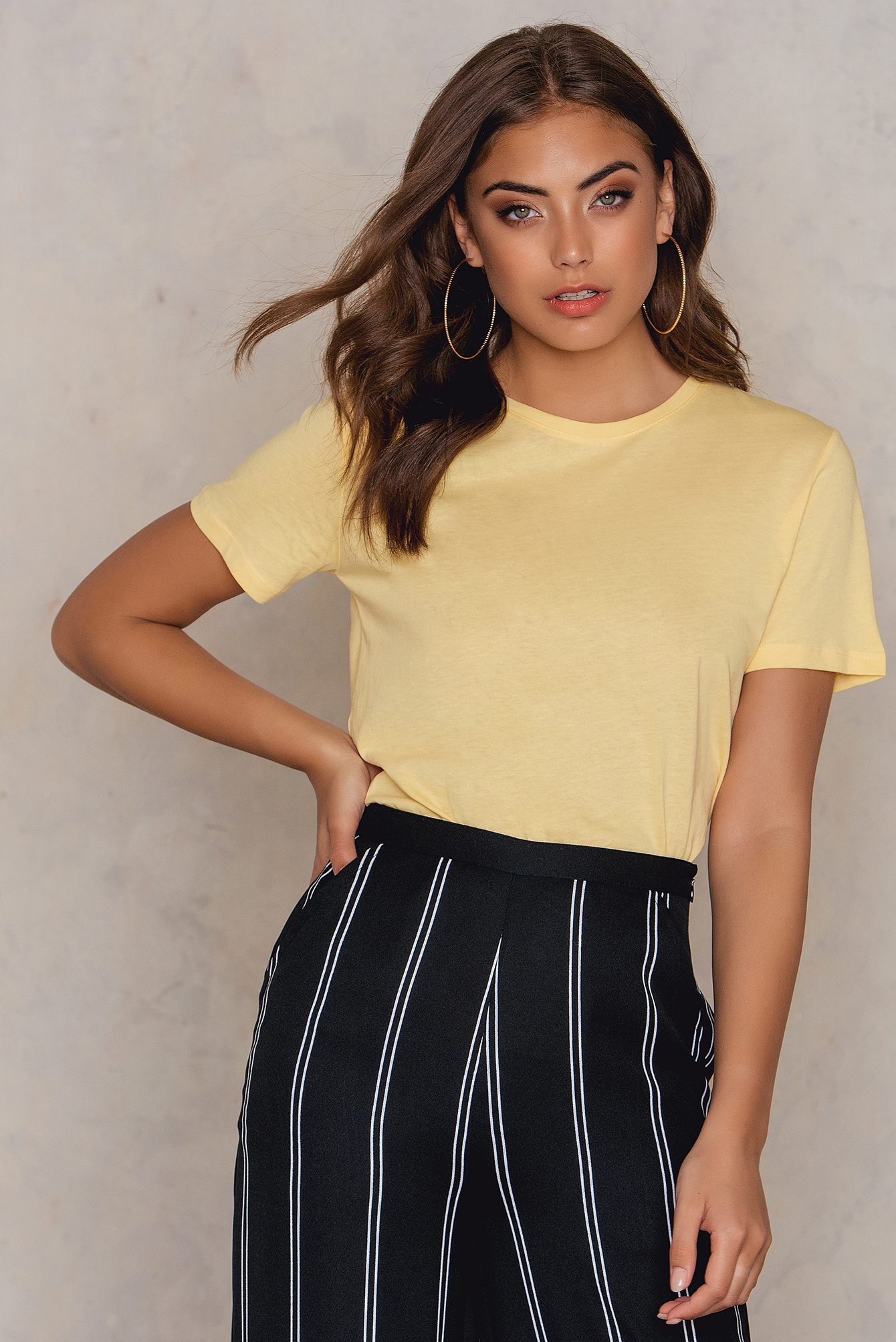 NA-KD Basic Basic Tee Yellow