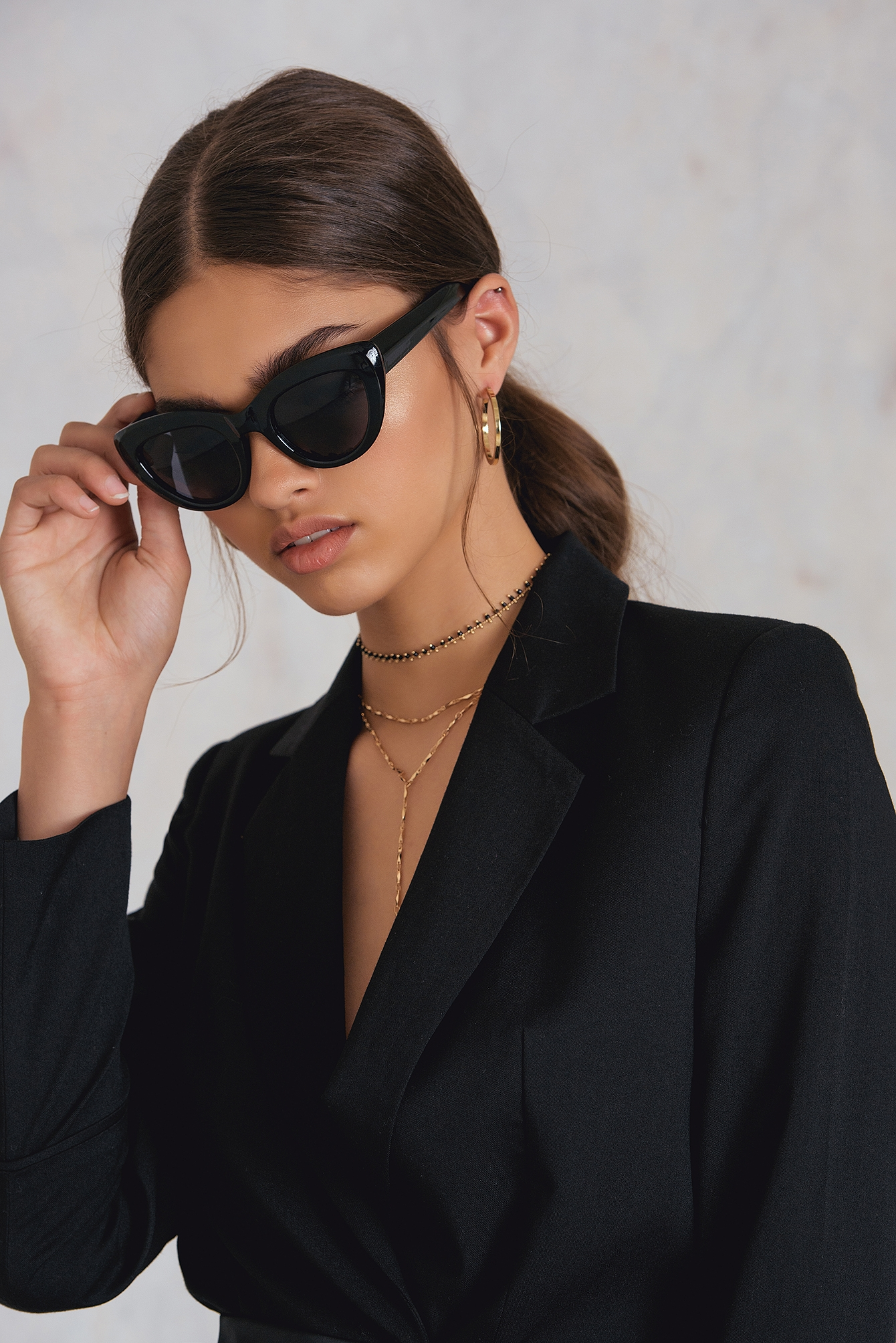 NA-KD Accessories Cat Eye Sunglasses Black