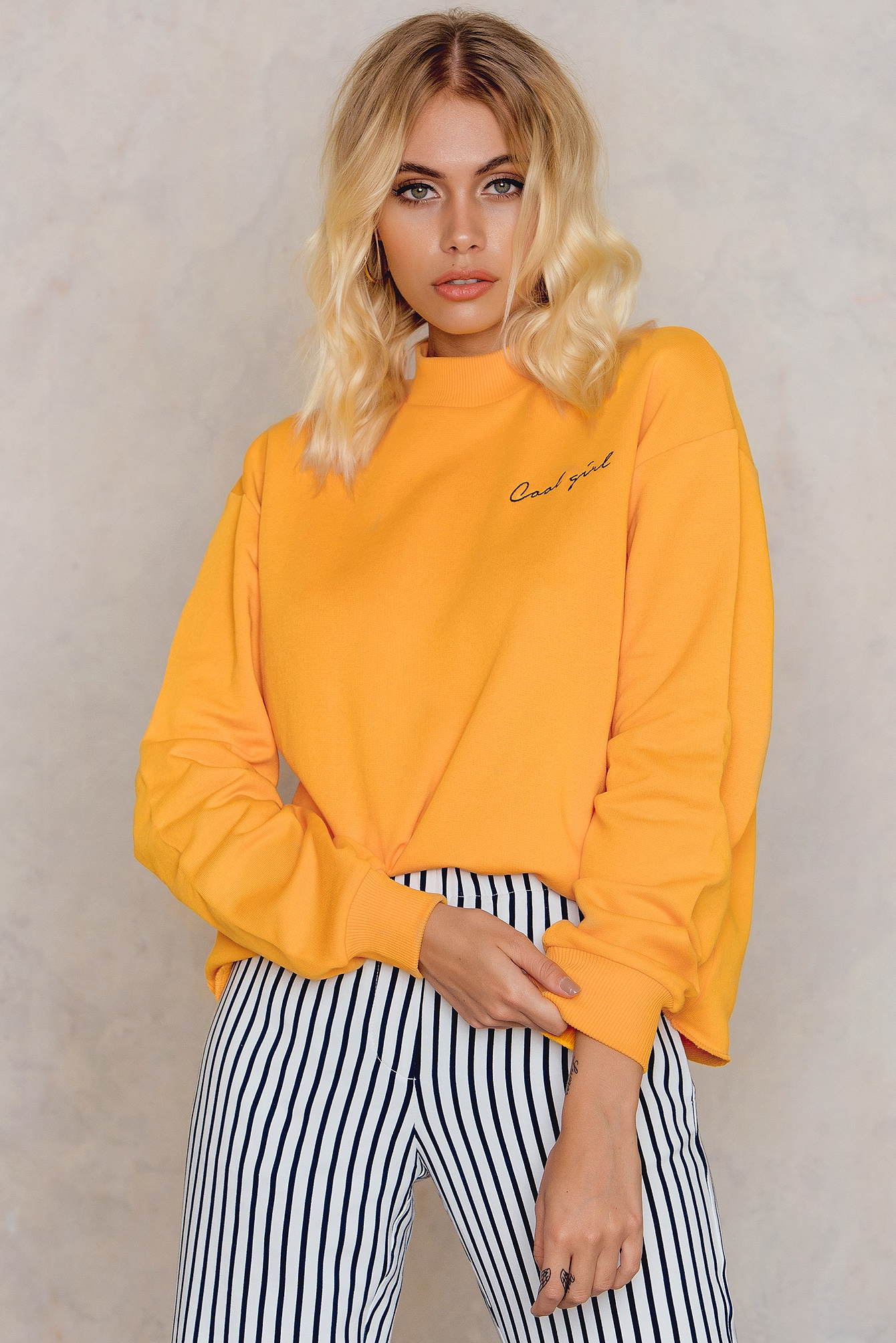 NA-KD Trend Cool Girl Sweatshirt Orange