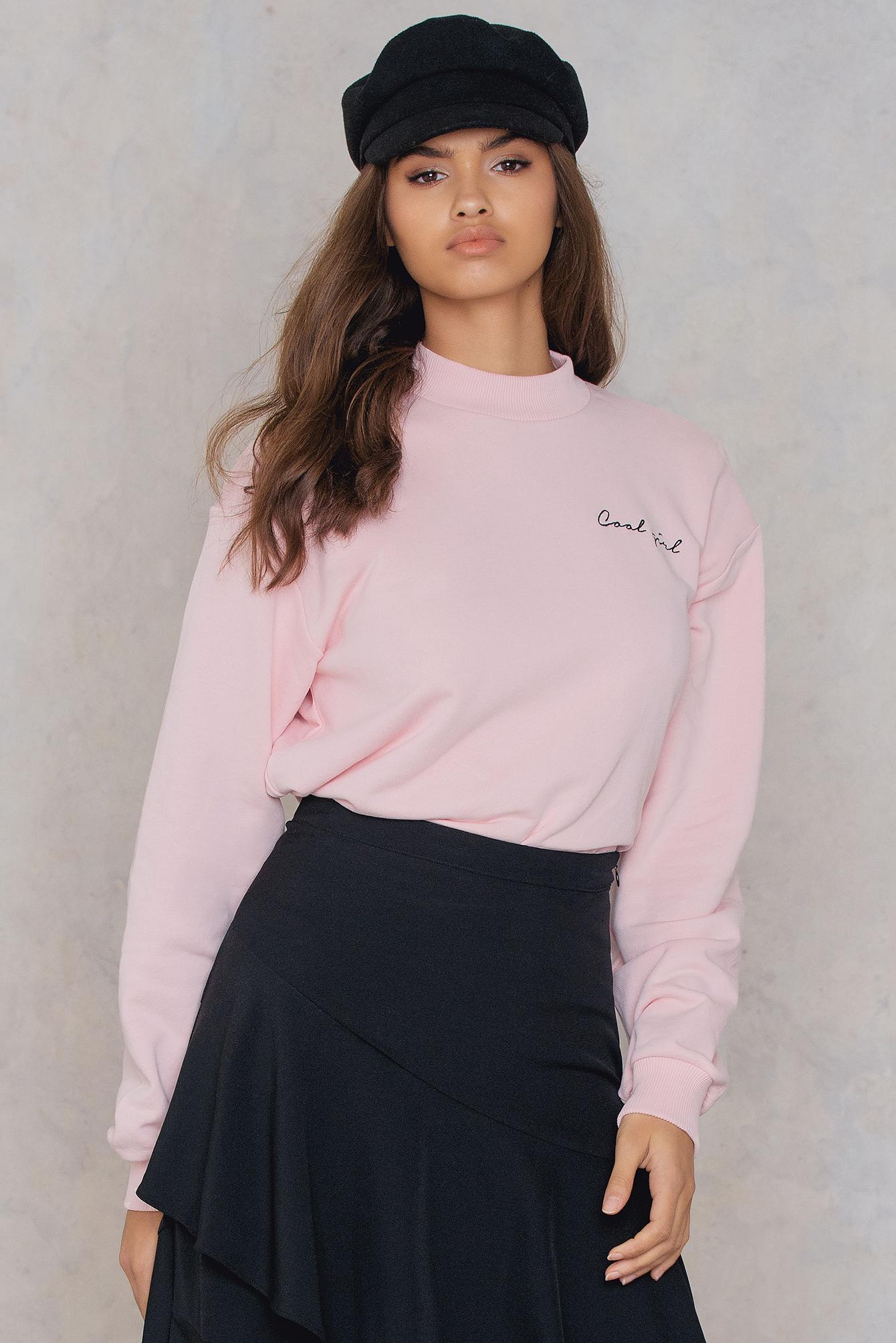 NA-KD Trend Cool Girl Sweatshirt Pink