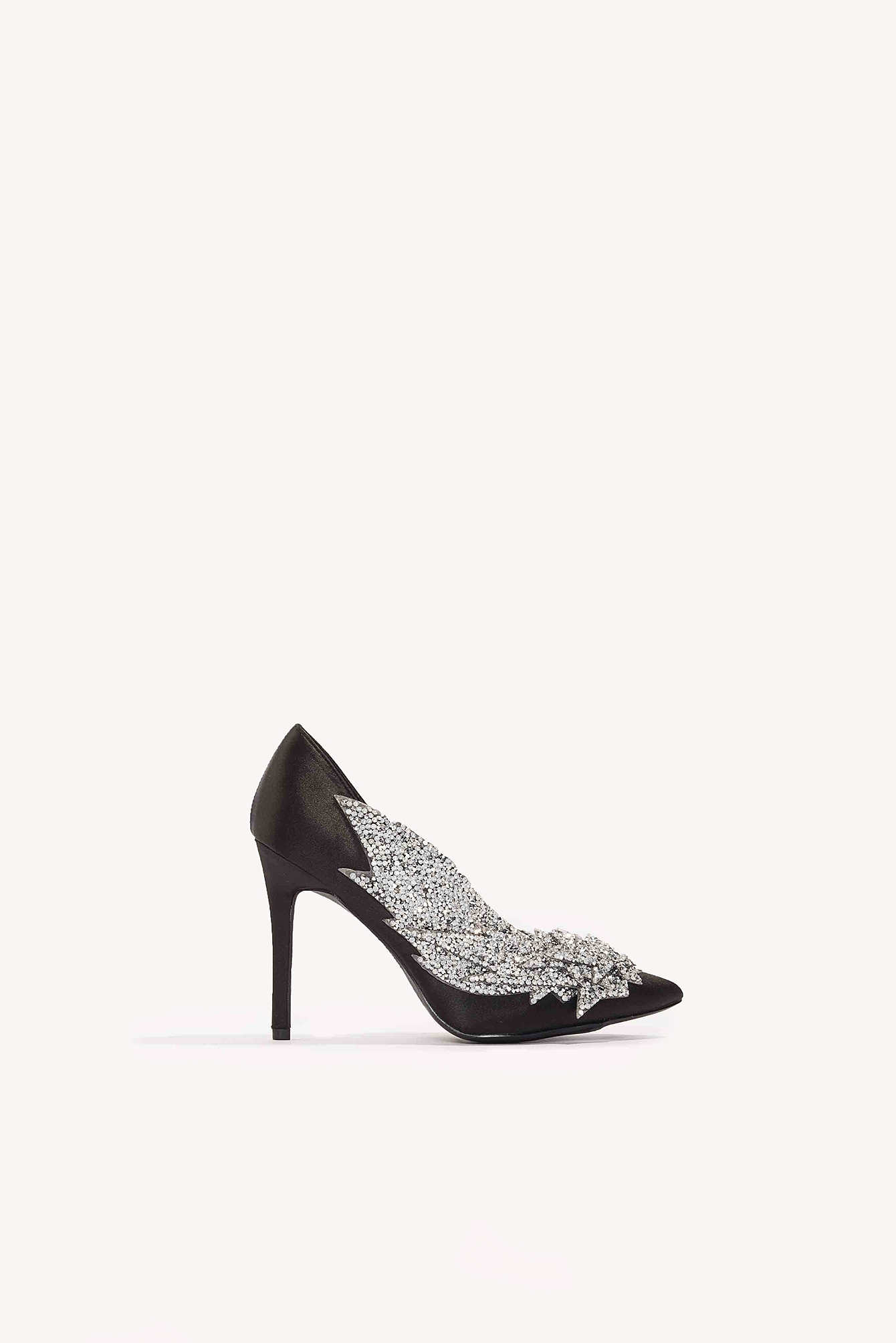 NA-KD Shoes Detail Rhinestone Pumps Black