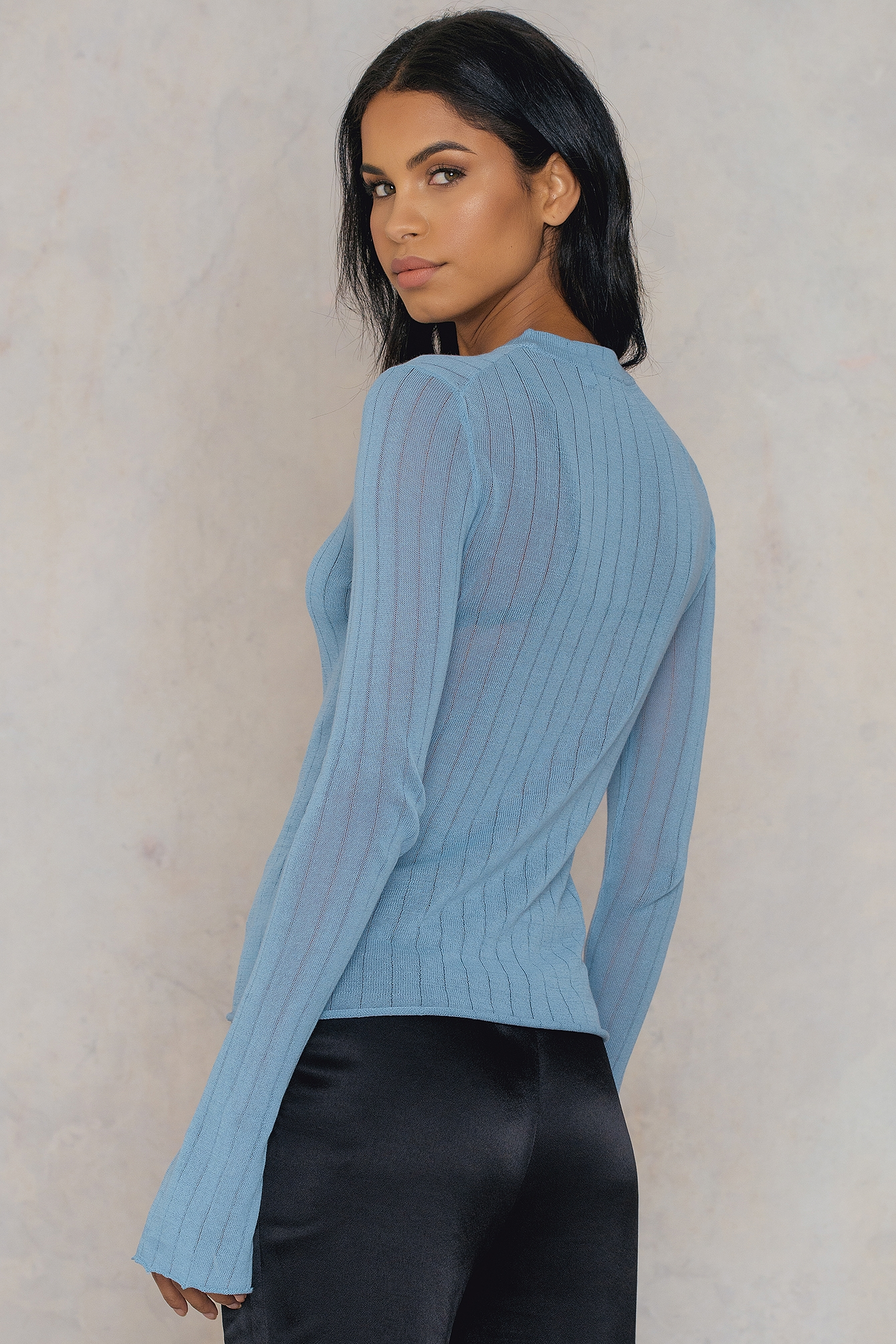 Light Knit Ribbed Sweater NA-KD.COM