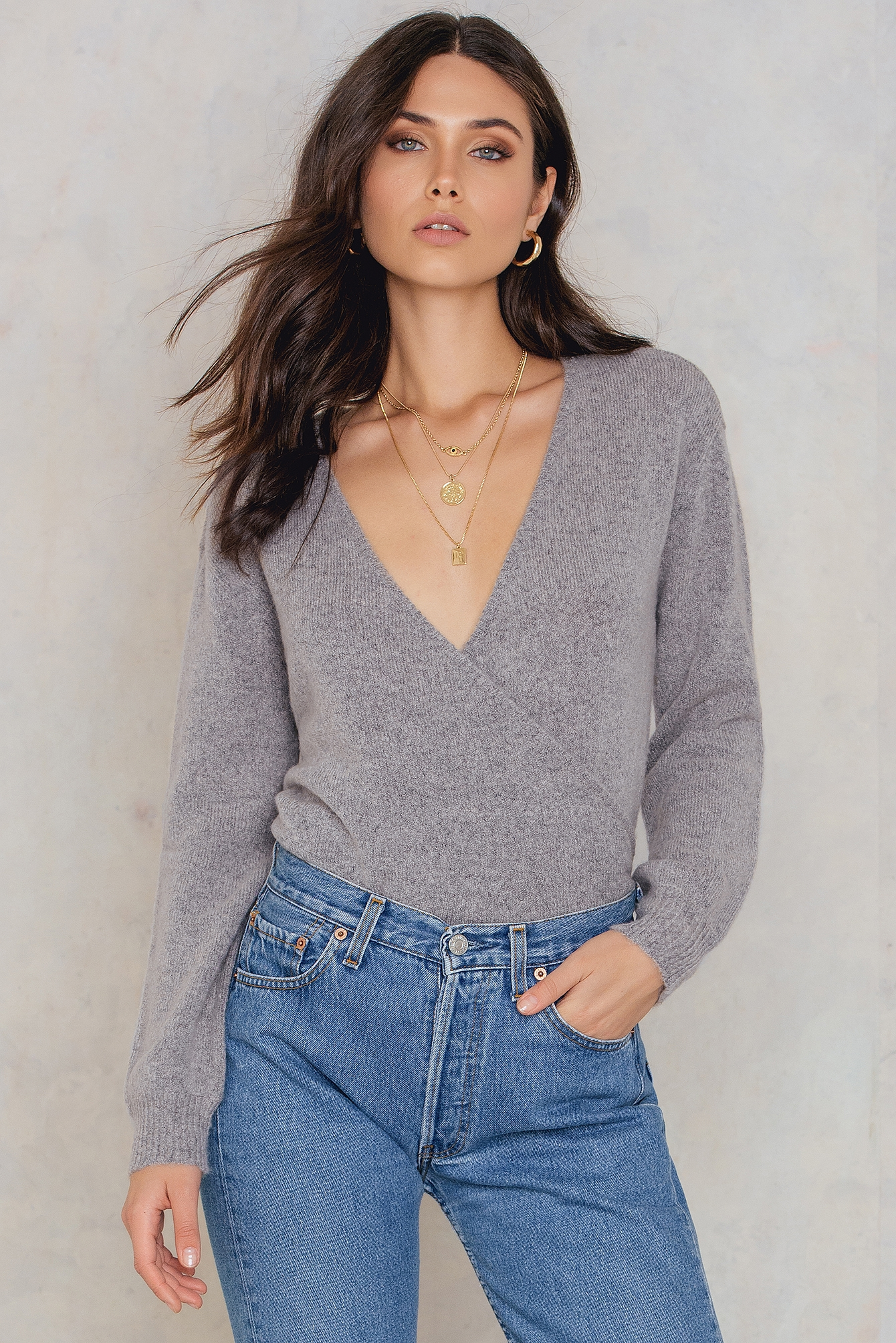 Overlap Knitted Sweater