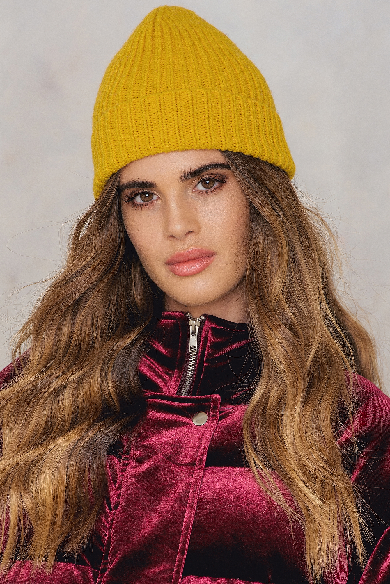 NA-KD Accessories Rib Knitted Beanie Yellow