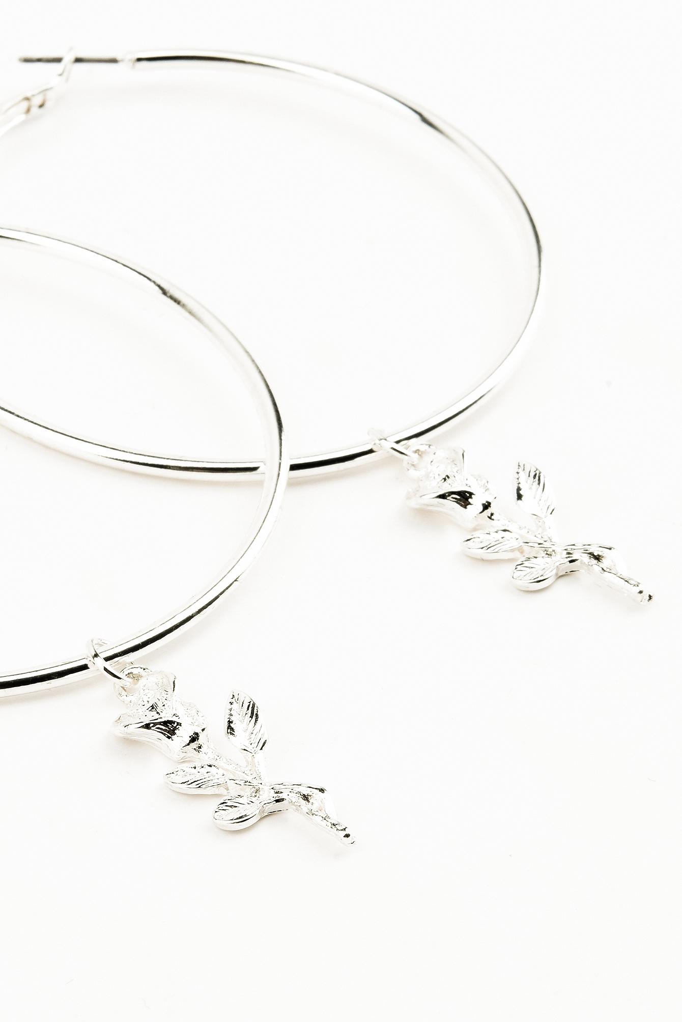 Tranloev Rose Loop Earrings Silver