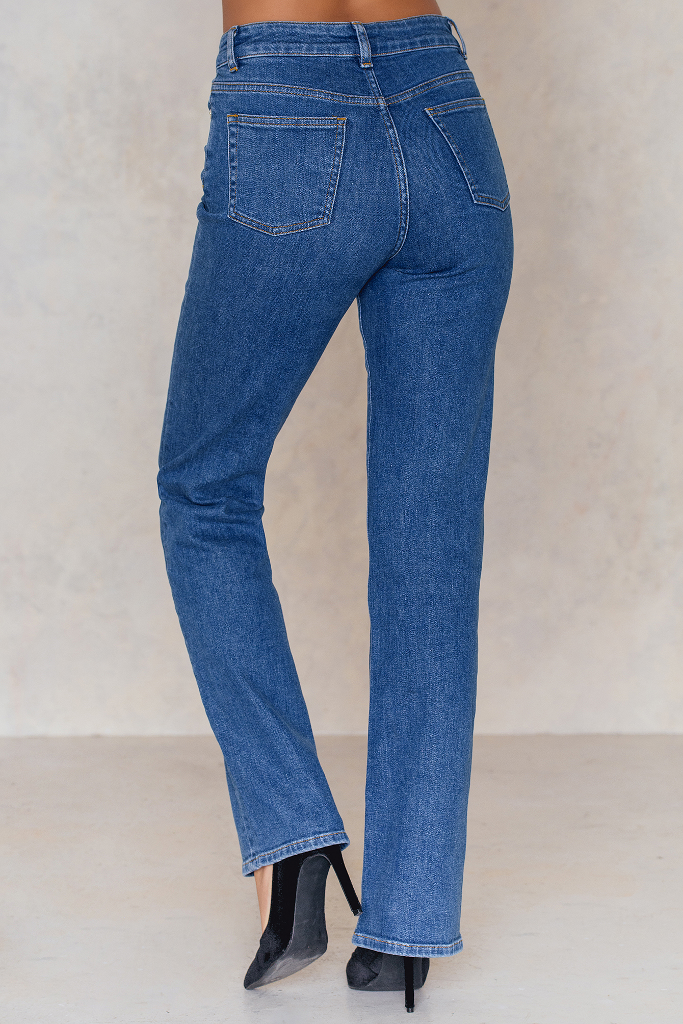 Straight Leg Highwaist Jeans NA-KD.COM