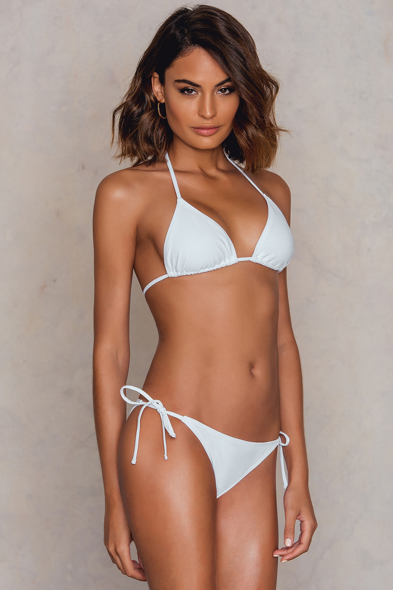 NA-KD Swimwear Triangle Panty White