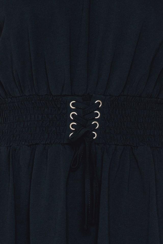 Waist Smock Dress Black