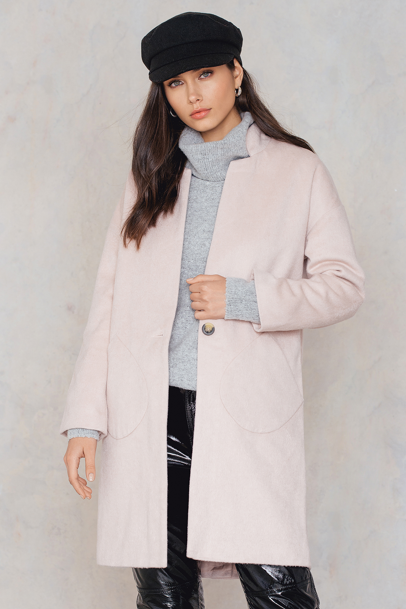 Native Youth Alba Coat Pink