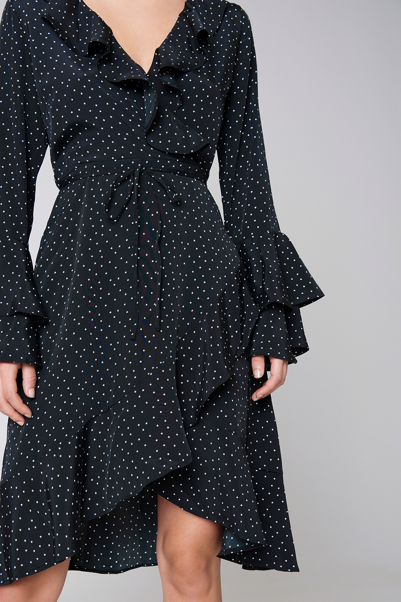 Orion Star Print Dress NA-KD.COM
