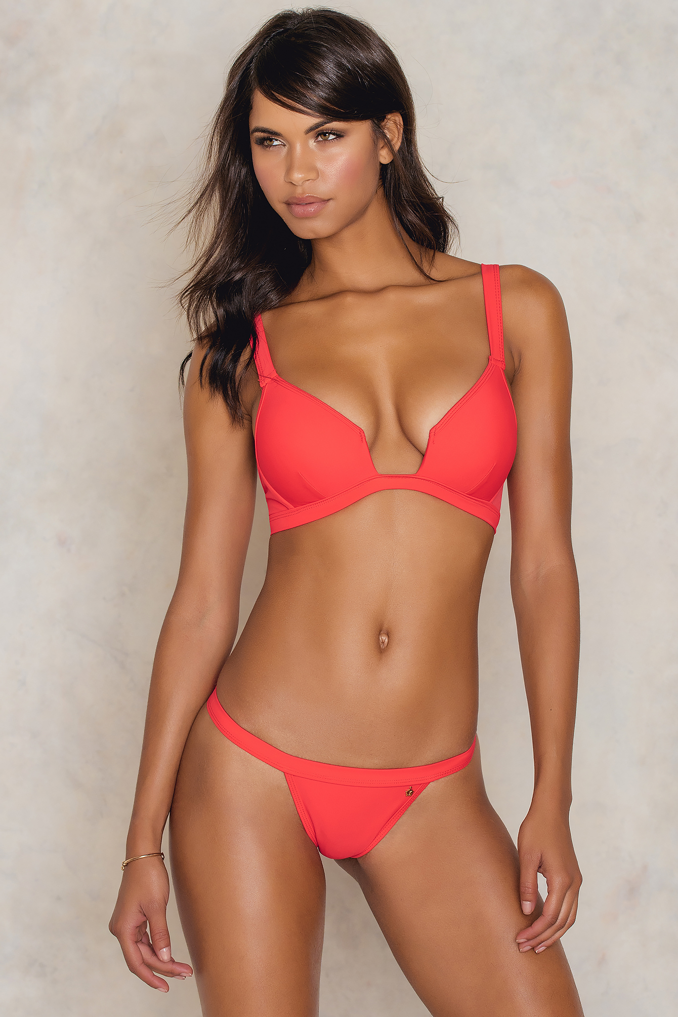 Roser Structured Bikini Pantie Red