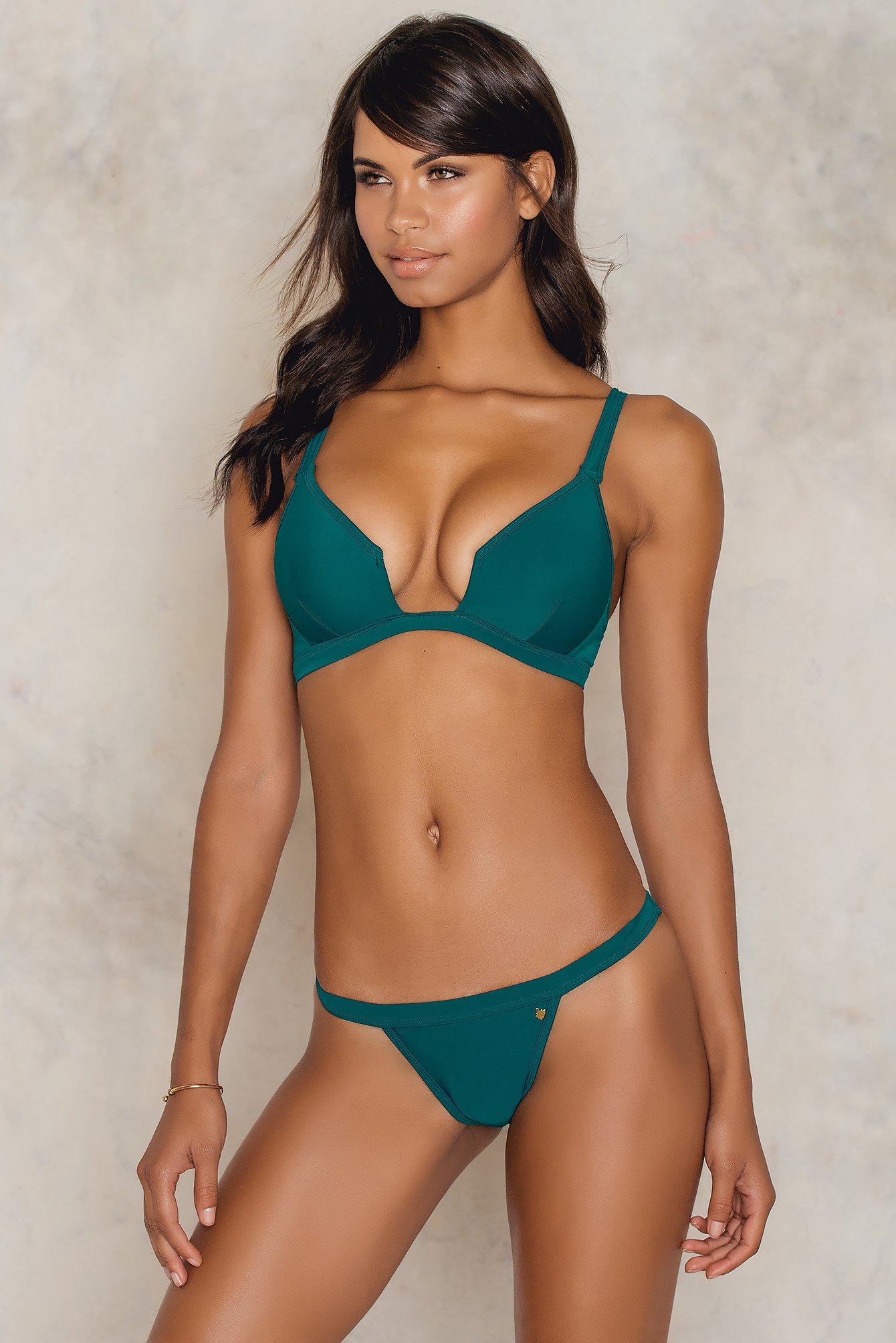 Roser Structured Bikini Pantie Green