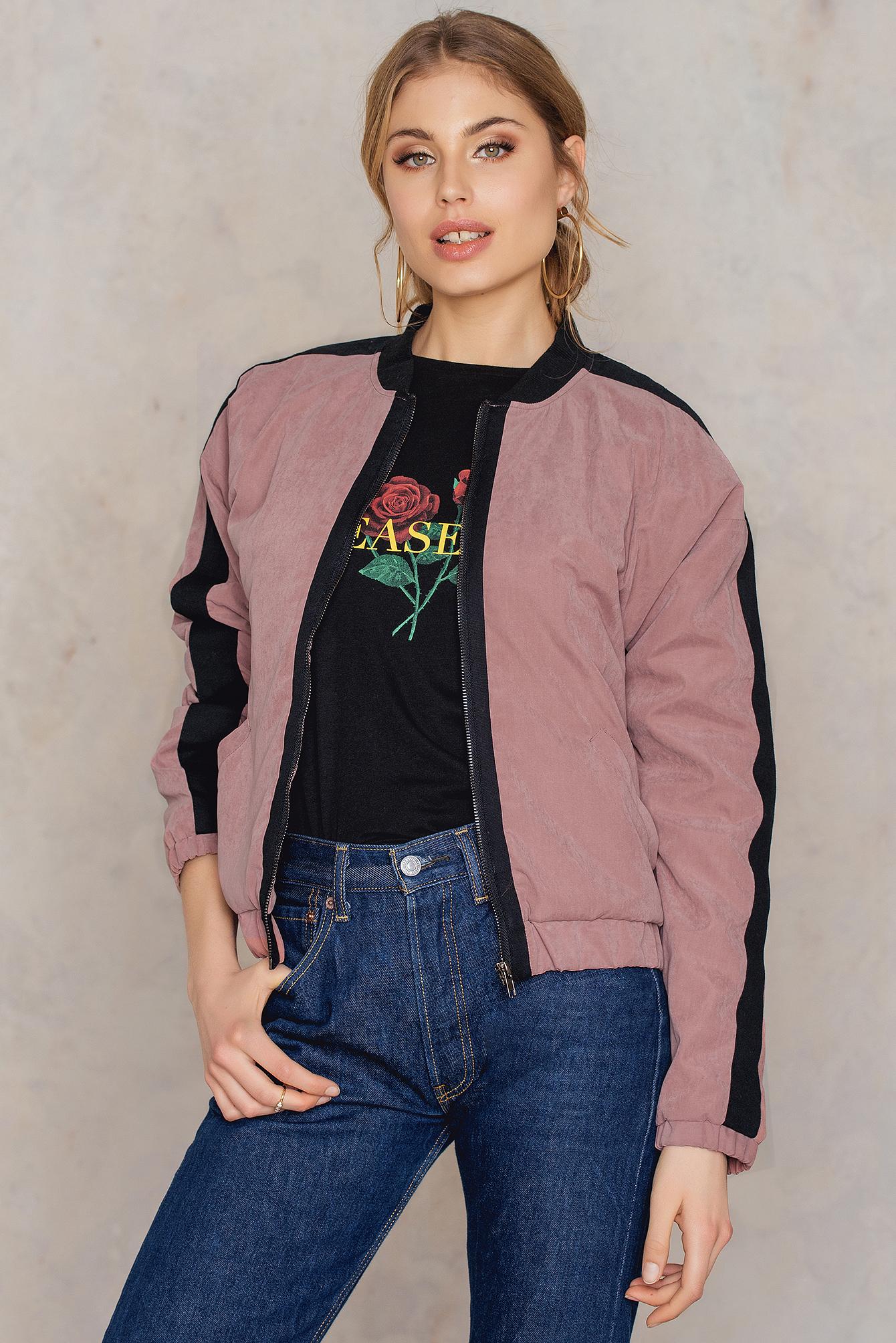 Rut & Circle Charlene bomber jkt Pink, Multicolor