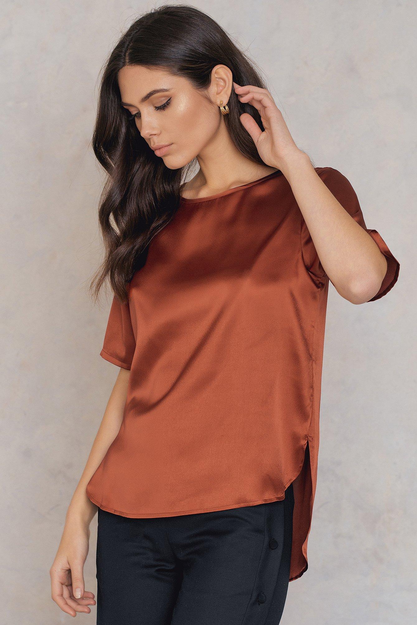 Rut & Circle Issie ss blouse Copper, Orange
