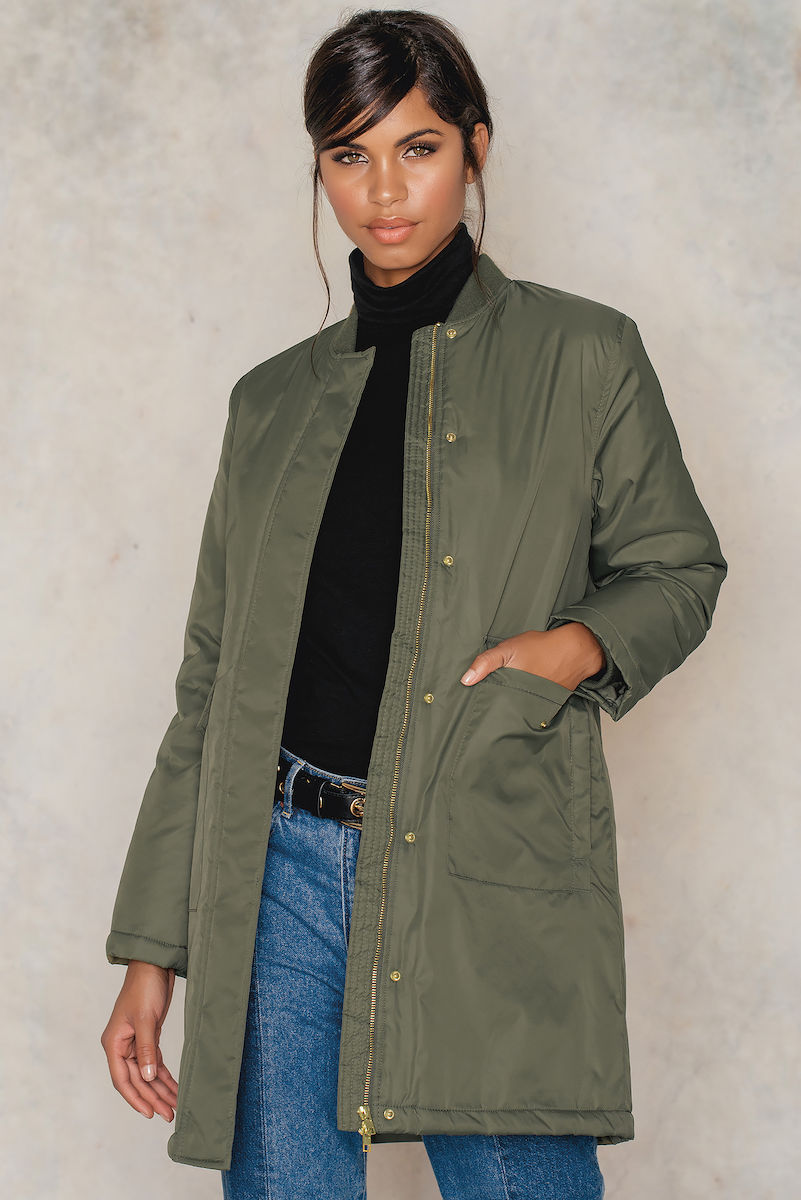 Sally & Circle Molly long bomber Green