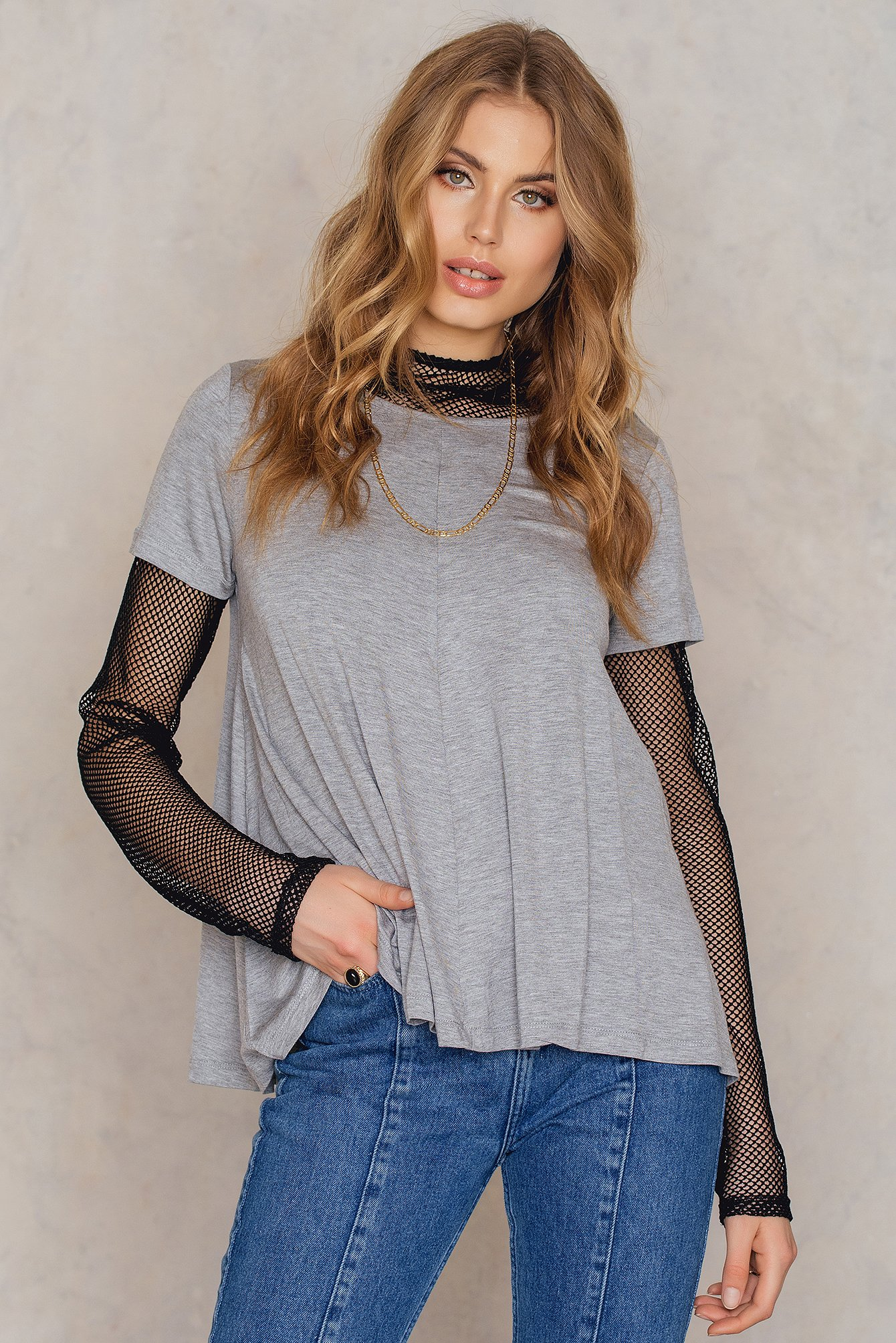 Rut & Circle Fia top Grey