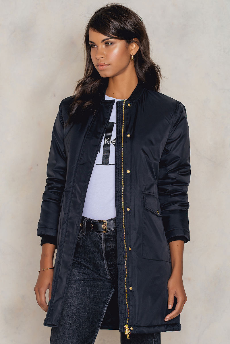 Sally & Circle Molly long bomber Black