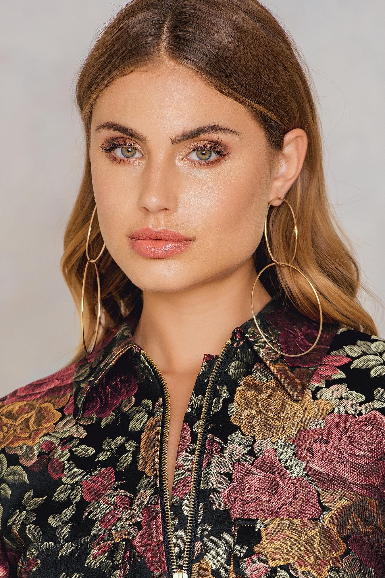 Tranloev Double Ring Earrings Gold
