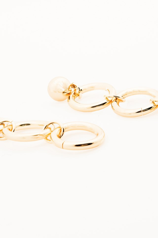 Isabelle Earrings Yellow Gold