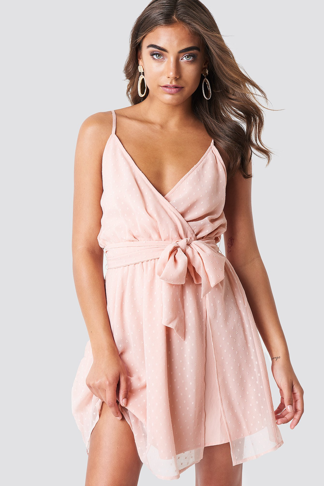 Chiffon Short Dress Light Rose Pink  28c2d7ae8