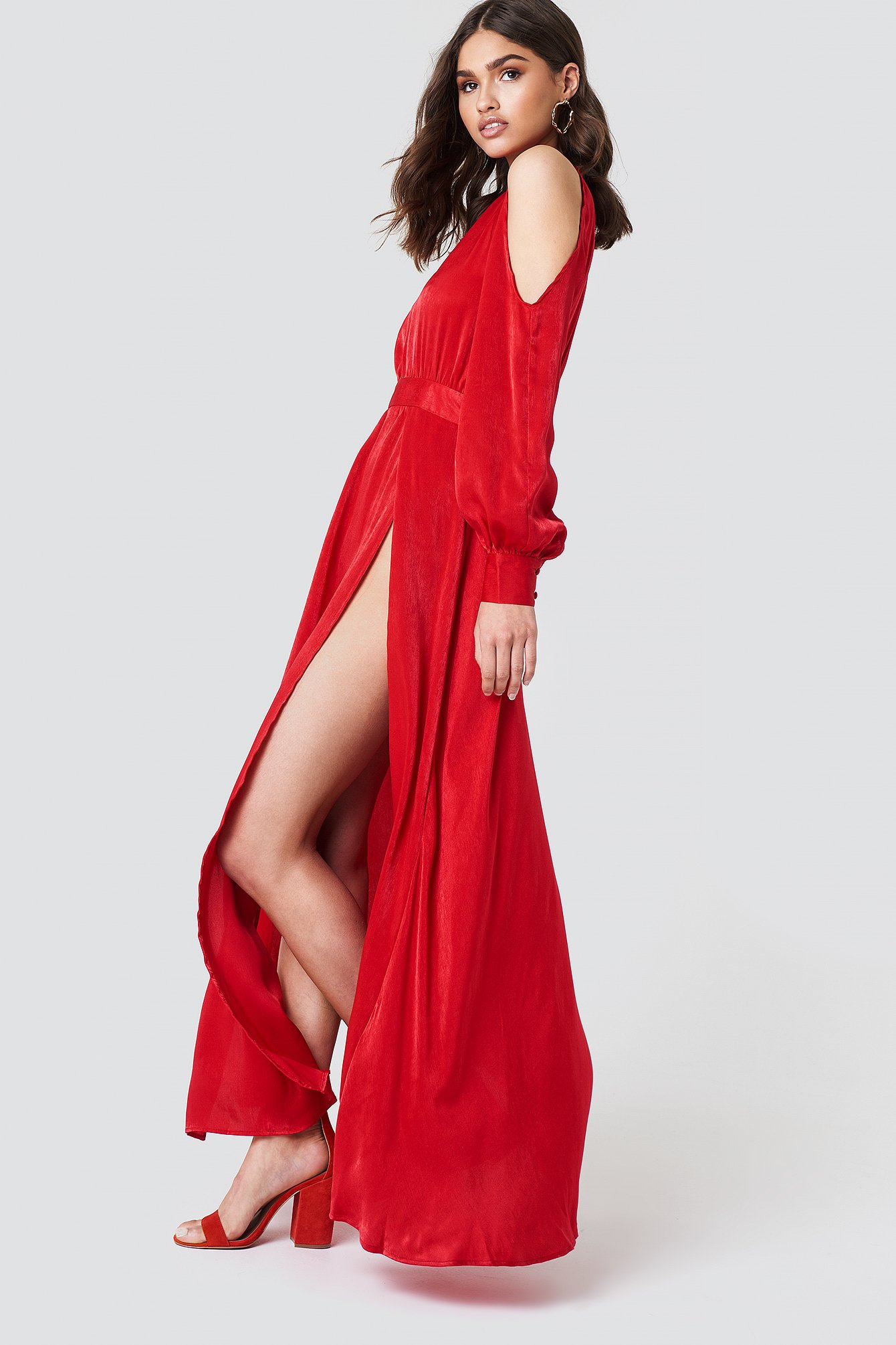 Cut Out Long Dress NA-KD.COM