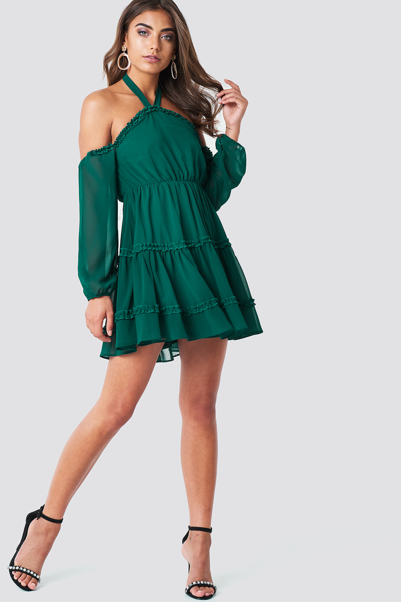 Halterneck Off Shoulder Dress NA-KD.COM