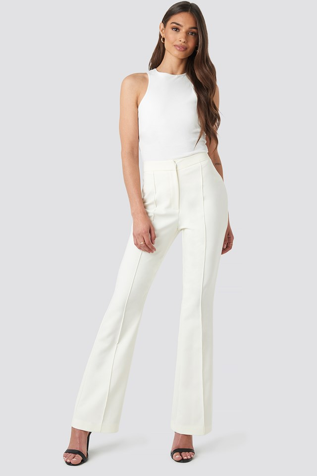 Highwaist Flare Leg Pants NA-KD.COM