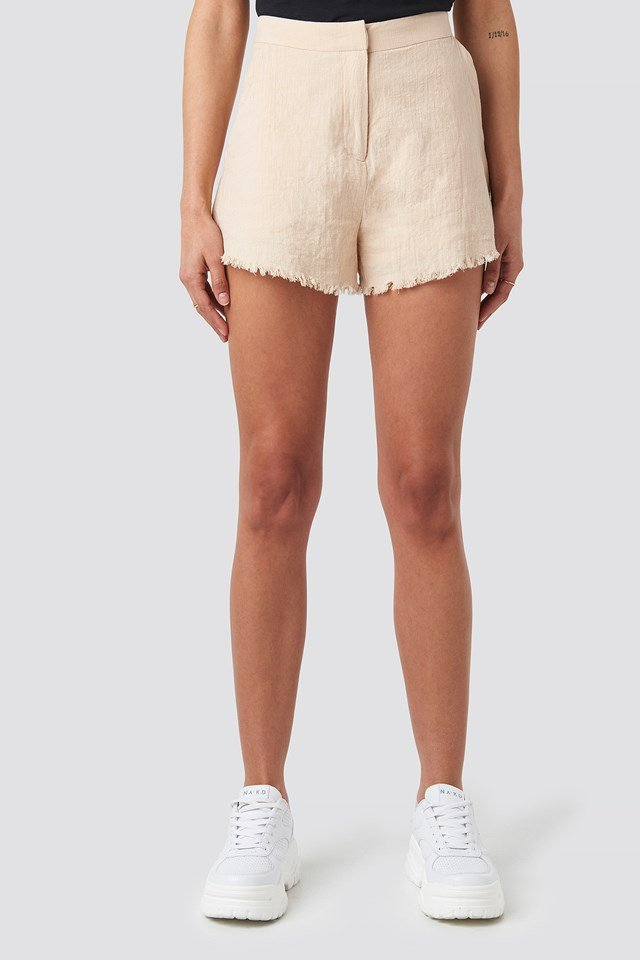 Linen Look Shorts Beige