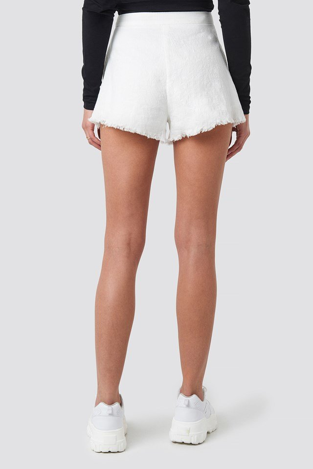 Linen Look Shorts White