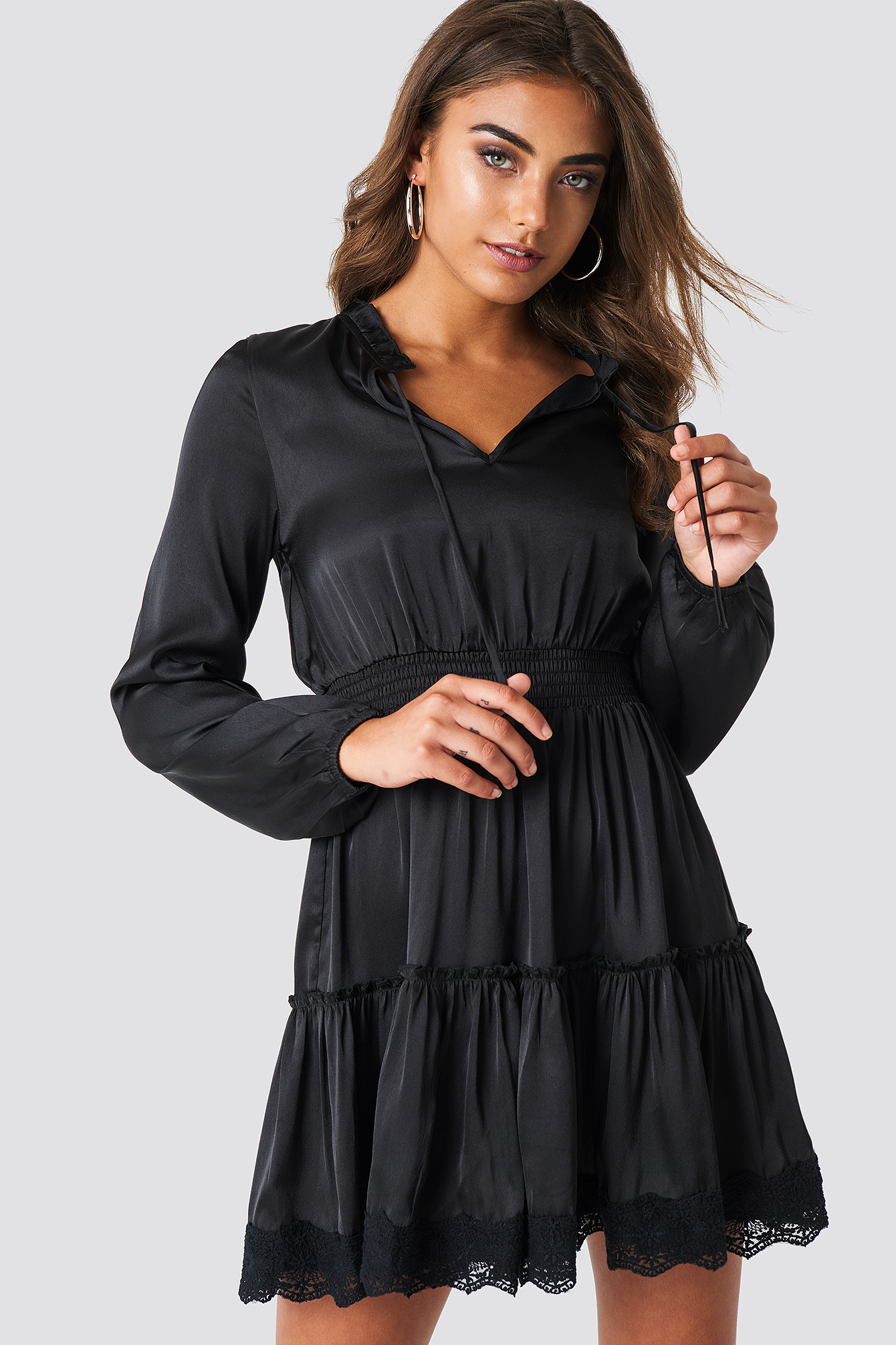 Long Sleeve Short Dress NA-KD.COM