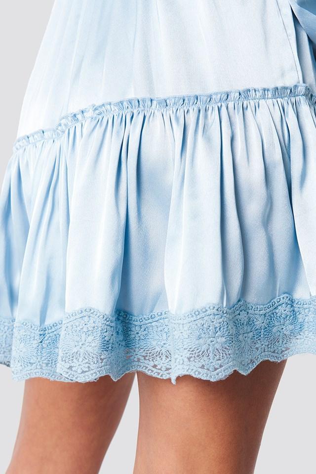 Long Sleeve Short Dress Blue/Grey
