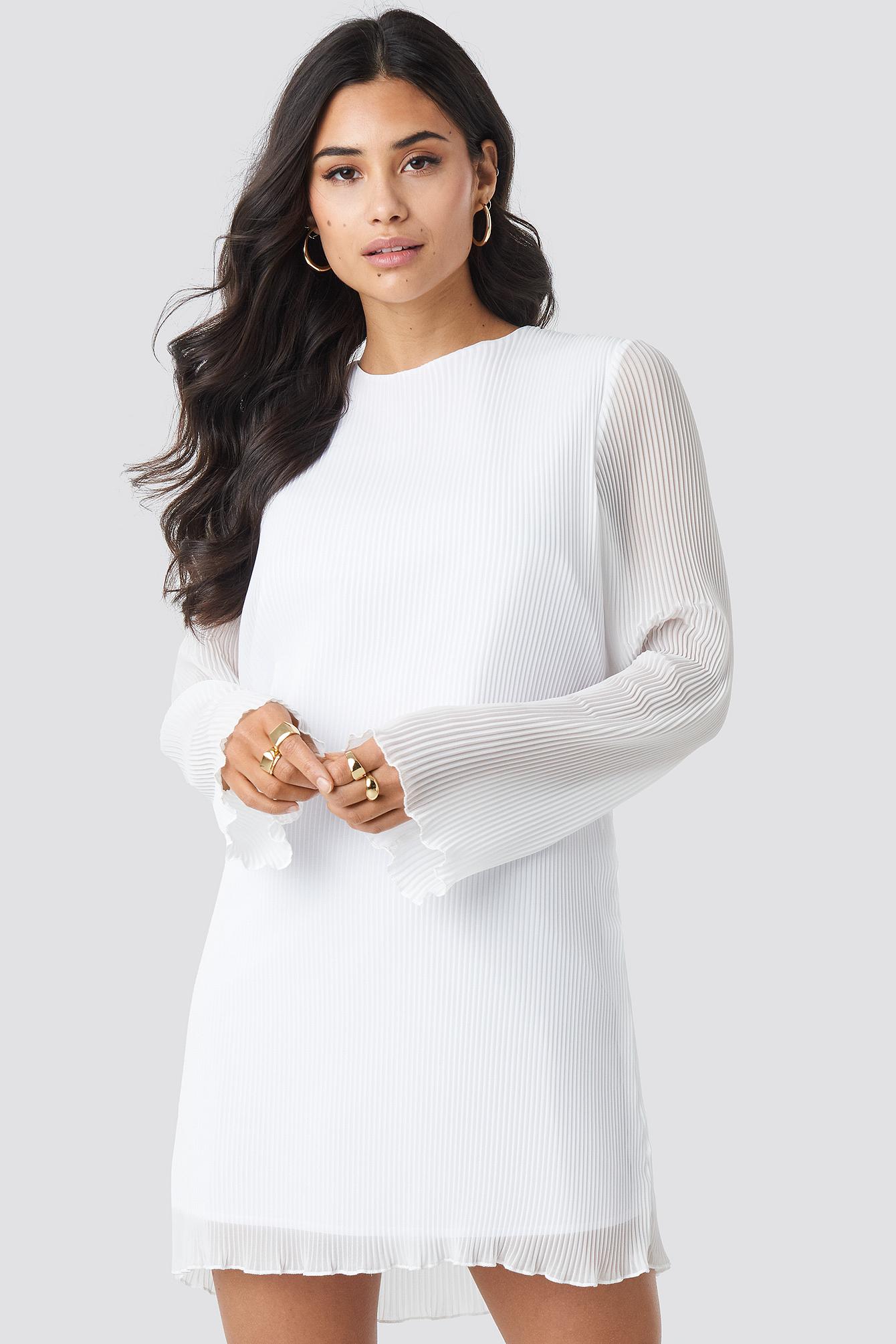 Pleated LS Mini Dress NA-KD.COM