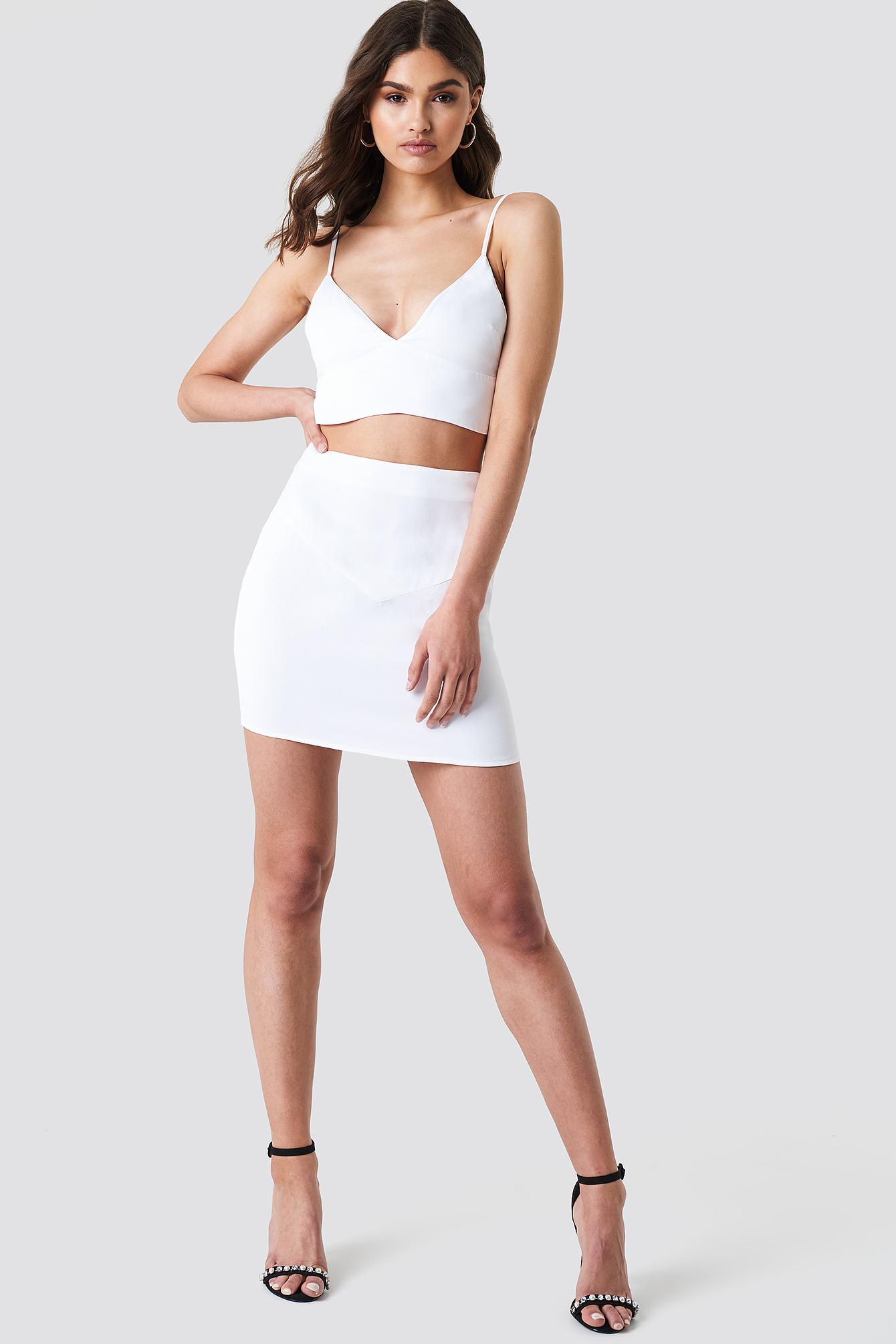 Satin Short Skirt NA-KD.COM