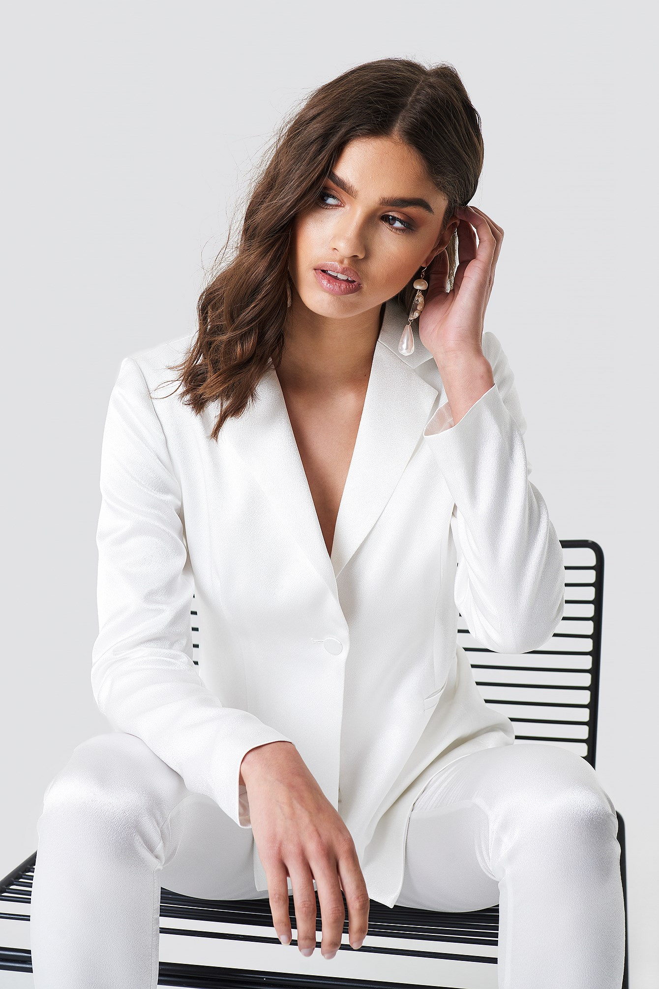 Satin Suit Jacket NA-KD.COM