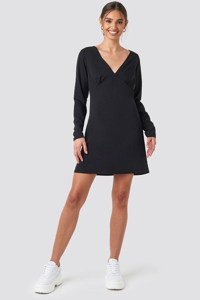 V-Neck Mini Dress NA-KD.COM