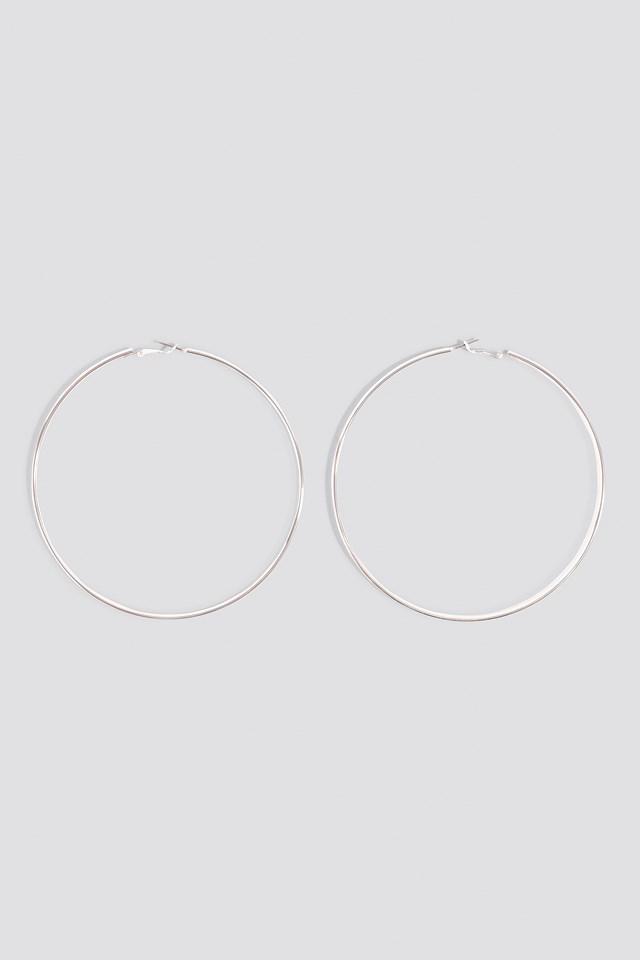 Big Hoop Earrings Silver