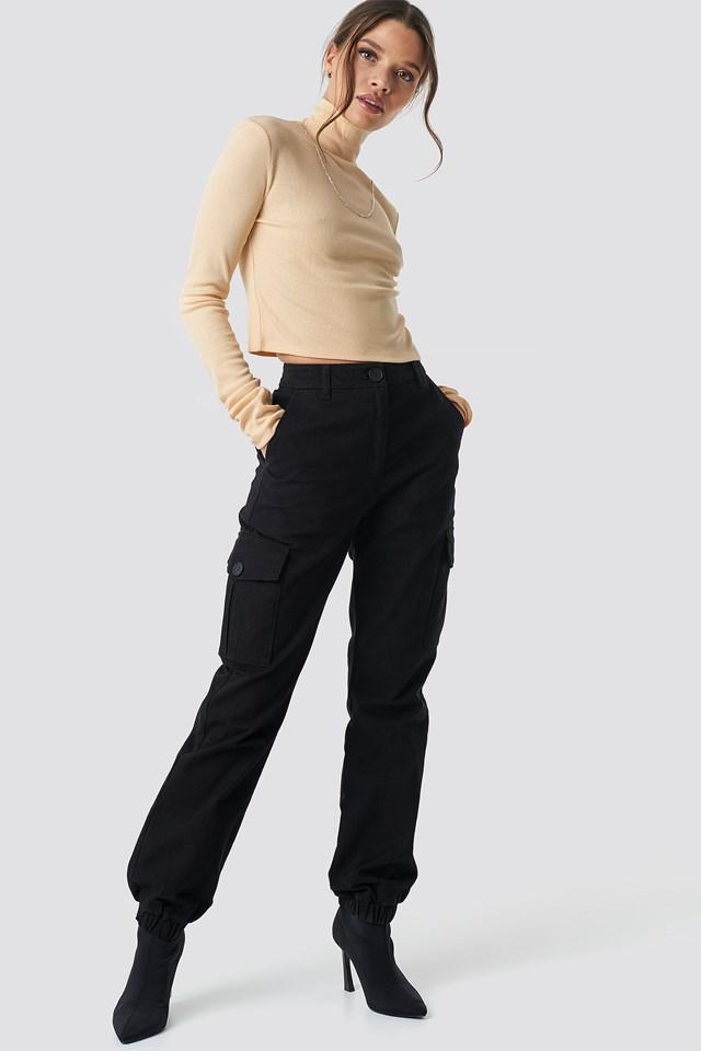 Camo Cargo Pants Black