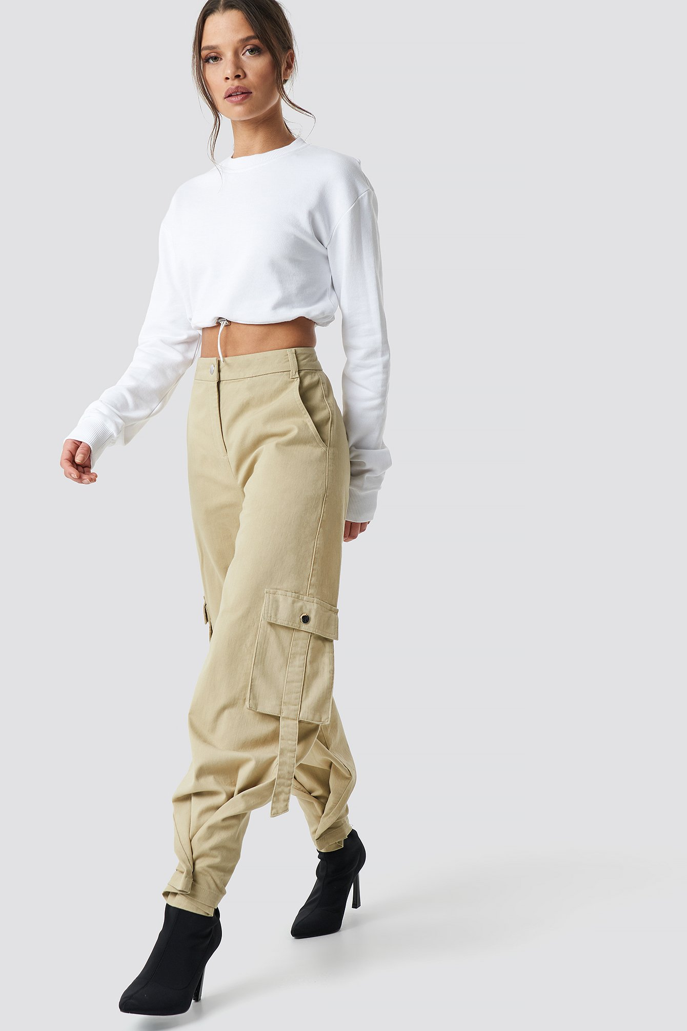 cargo pants beige  nakd