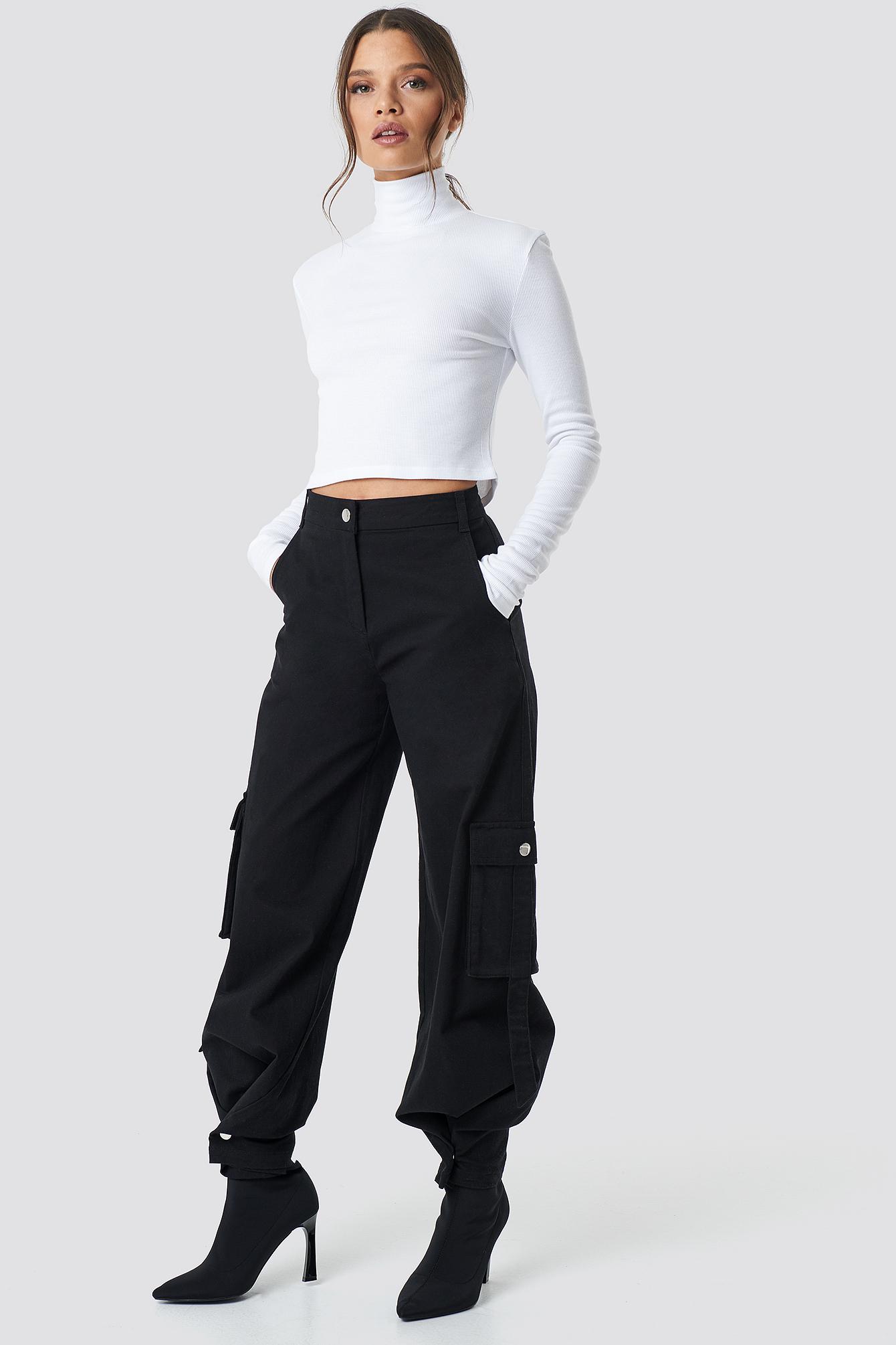 ivana santacruz x na-kd -  Cargo Pants - Black