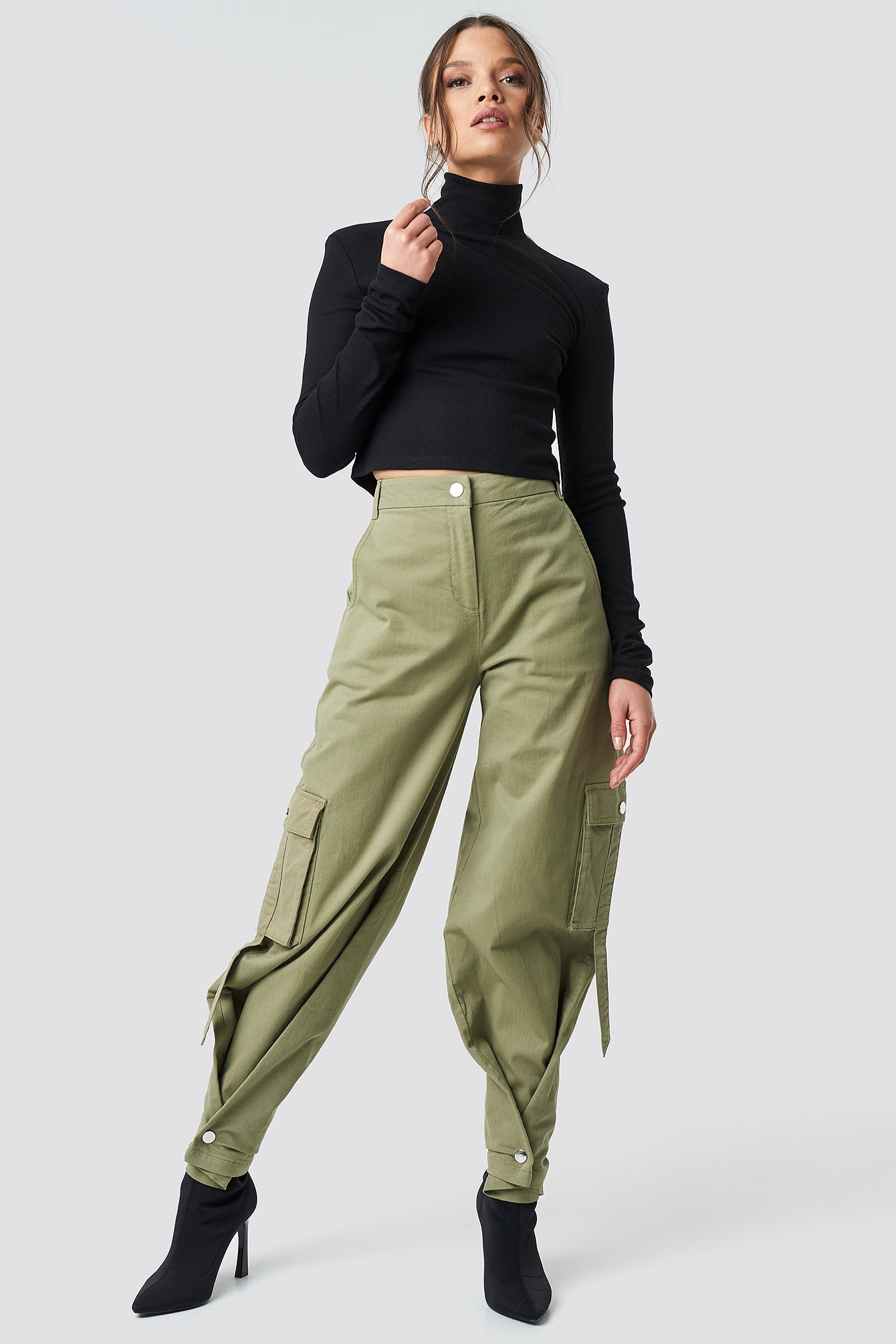 ivana santacruz x na-kd -  Cargo Pants - Green