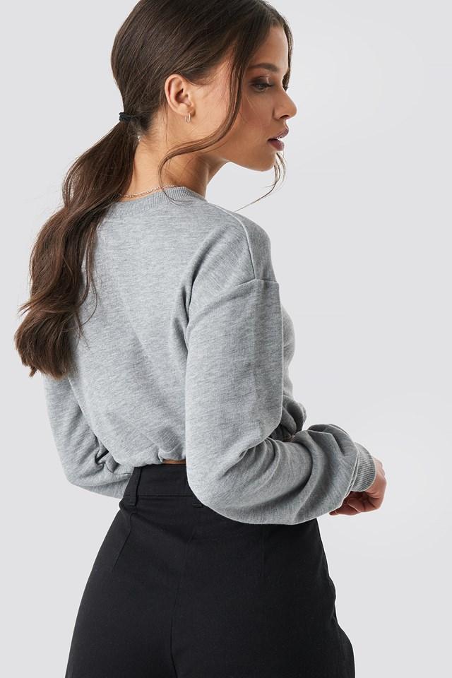 Drawstring Sweatshirt Grey