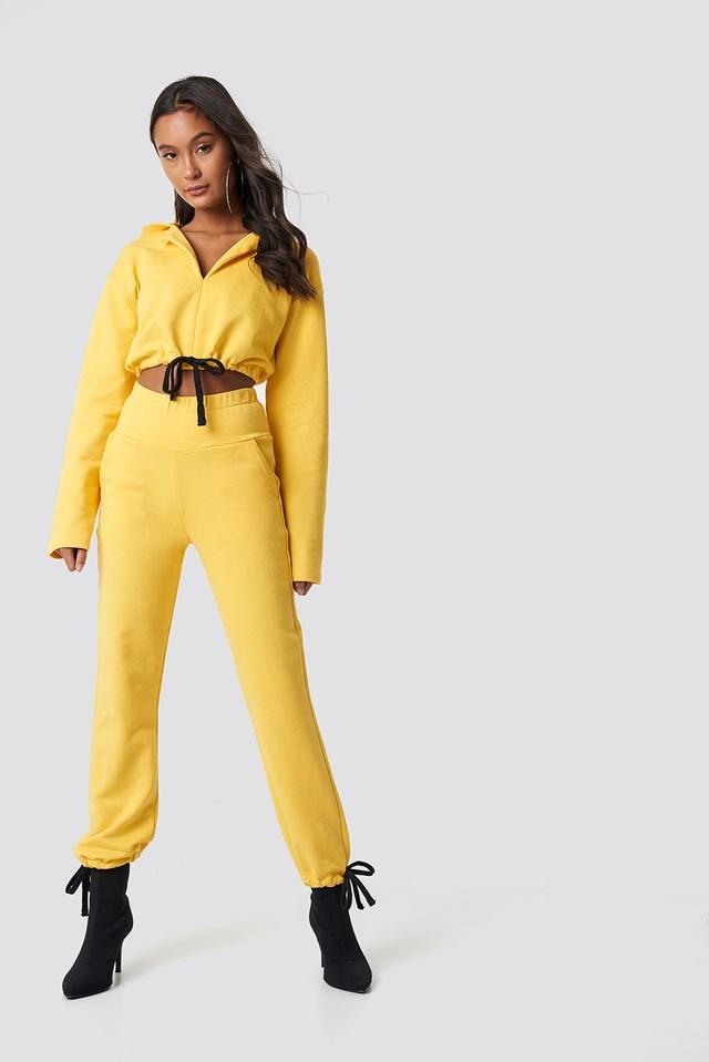 Drawstring Sweatpants Yellow