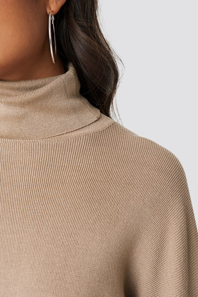 High Neck Cropped Sweater NA-KD.COM