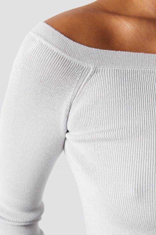 Off Shoulder Cropped Sweater NA-KD.COM