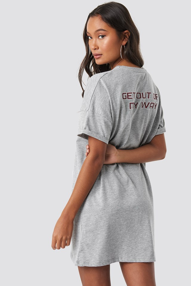 T-shirt Dress Grey