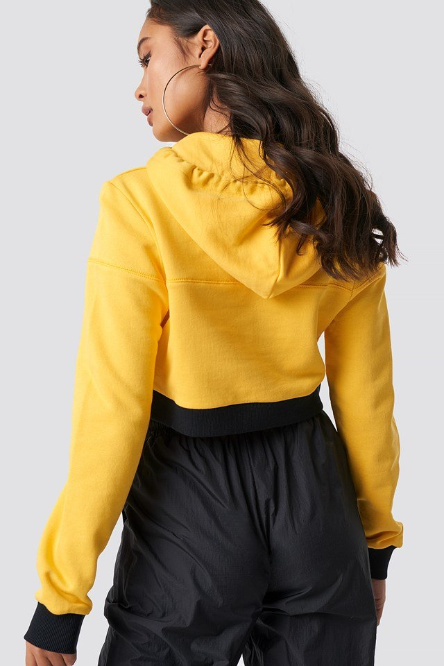 Cropped Hoodie Yellow/Black